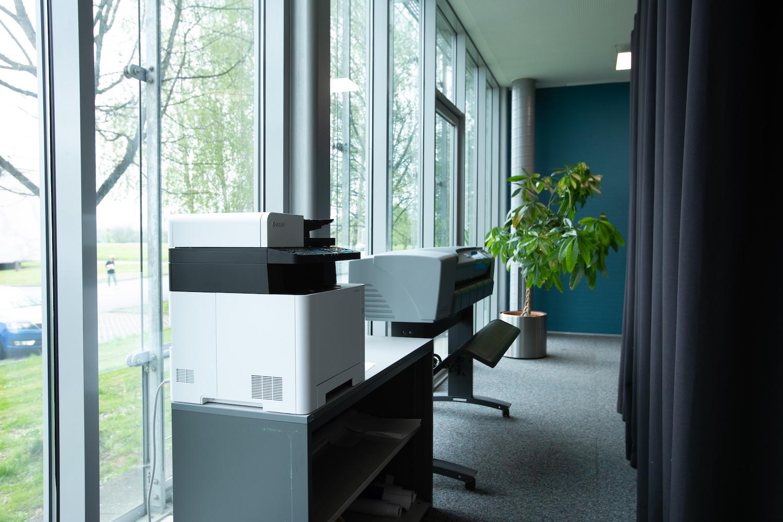 Coworking Drucker, Plotter und Scanner
